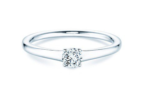 Solitärring Madison<br />14K Weißgold<br />Diamant 0,25ct