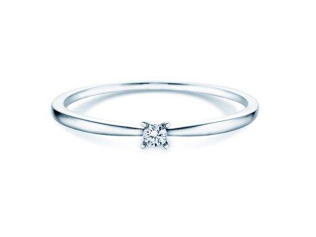 Verlobungsring Modern Petite<br />14K Weißgold<br />Diamant 0,05ct