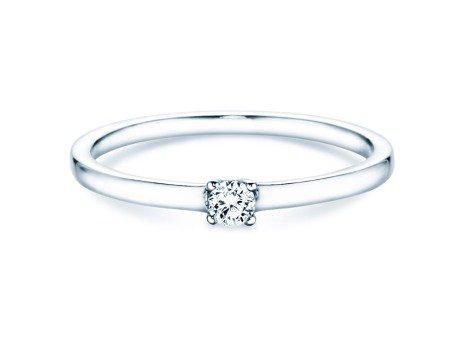 Verlobungsring Modern Petite<br />18K Weißgold<br />Diamant 0,11ct