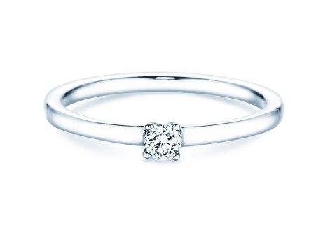 Verlobungsring Modern Petite<br />14K Weißgold<br />Diamant 0,14ct