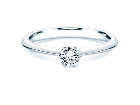 Solitärring The One<br />14K Weißgold<br />Diamant 0,25ct