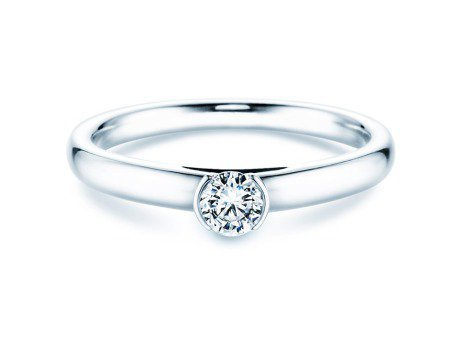 Solitärring Perfection in 14K Weißgold mit Diamant 0,25ct