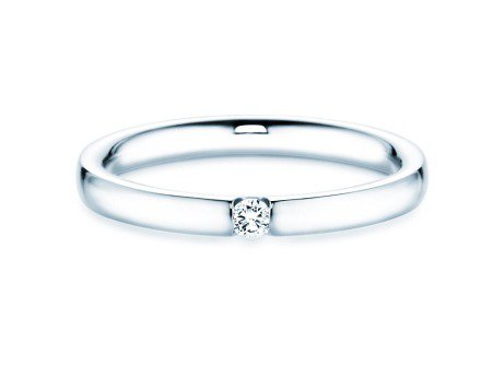 Spannring Destiny in 14K Weißgold mit Diamant 0,05ct