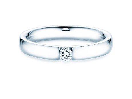 Spannring Destiny<br />14K Weißgold<br />Diamant 0,10ct