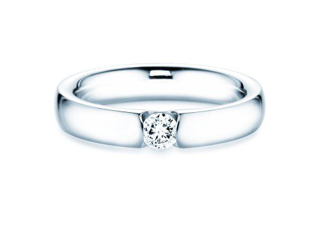 Spannring Destiny in Platin mit Diamant 0,20ct