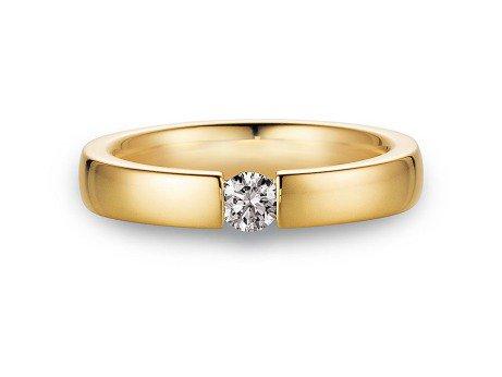 Verlobungsring Infinity<br />14K Gelbgold<br />Diamant 0,25ct