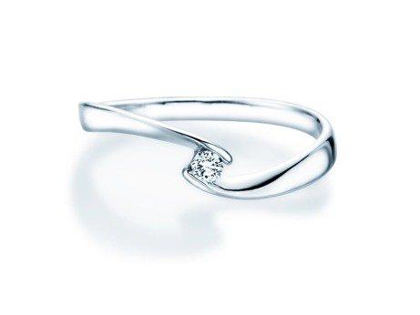 Verlobungsring Twist Petite in 14K Weißgold mit Diamant 0,06ct