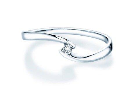 Verlobungsring Twist Petite<br />18K Weißgold<br />Diamant 0,04ct