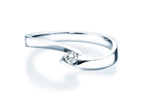 Verlobungsring Twist Petite in 18K Weißgold mit Diamant 0,09ct