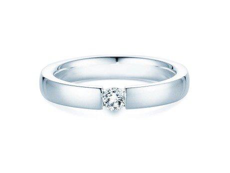Verlobungsring Infinity in 14K Weißgold mit Diamant 0,15ct