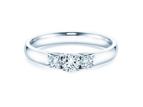 Verlobungsring 3 Stones<br />Silber<br />Diamant 0,11ct