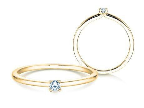Verlobungsring Classic 4<br />14K Gelbgold<br />Diamant 0,05ct