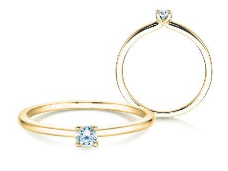 Verlobungsring Classic 4<br />18K Gelbgold<br />Diamant 0,10ct
