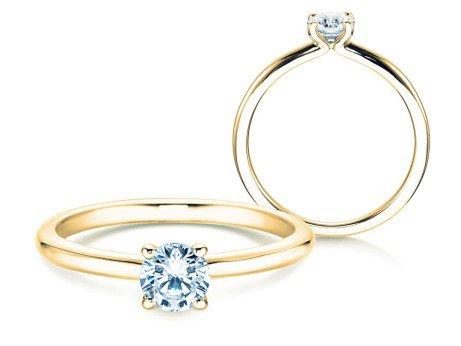 Verlobungsring Classic 4<br />14K Gelbgold<br />Diamant 0,40ct