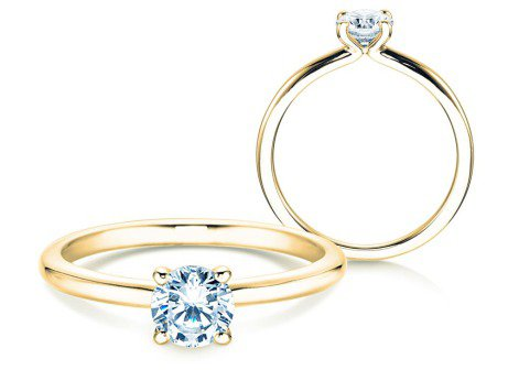 Verlobungsring Classic 4<br />14K Gelbgold<br />Diamant 0,50ct
