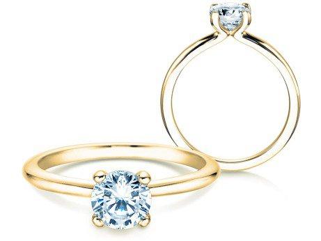 Verlobungsring Classic 4<br />14K Gelbgold<br />Diamant 0,75ct