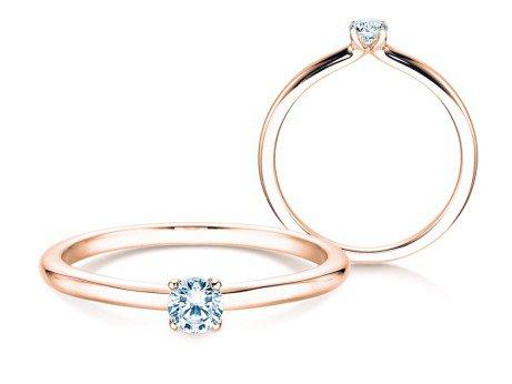 Verlobungsring Classic 4<br />18K Roségold<br />Diamant 0,15ct