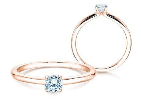 Verlobungsring Classic 4<br />14K Roségold<br />Diamant 0,25ct
