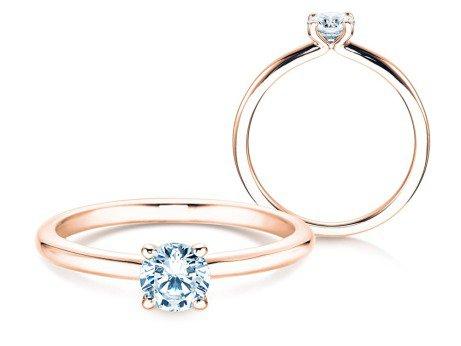 Verlobungsring Classic 4<br />14K Roségold<br />Diamant 0,40ct