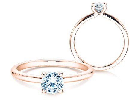 Verlobungsring Classic 4<br />18K Roségold<br />Diamant 0,50ct