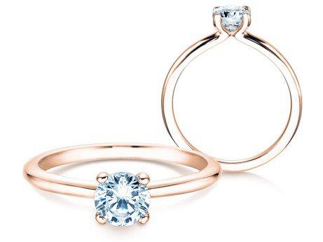 Verlobungsring Classic 4<br />14K Roségold<br />Diamant 0,60ct