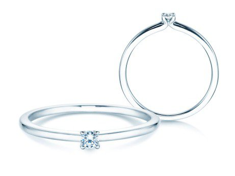 Verlobungsring Classic 4<br />Silber<br />Diamant 0,05ct
