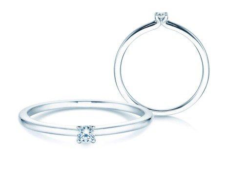 Verlobungsring Classic 4<br />14K Weißgold<br />Diamant 0,05ct
