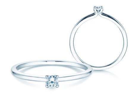 Verlobungsring Classic 4<br />Silber<br />Diamant 0,10ct