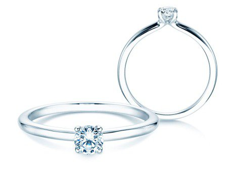 Verlobungsring Classic 4<br />Silber<br />Diamant 0,25ct