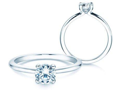 Verlobungsring Classic 4<br />14K Weißgold<br />Diamant 0,60ct