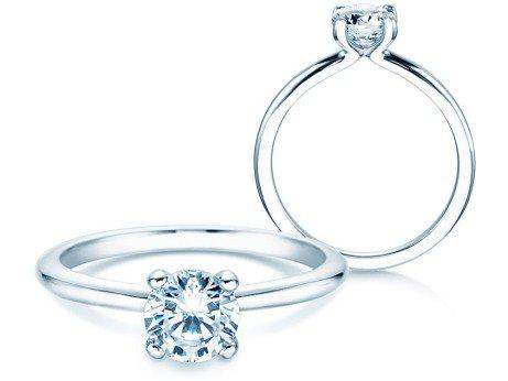 Verlobungsring Classic 4<br />Silber<br />Diamant 0,75ct