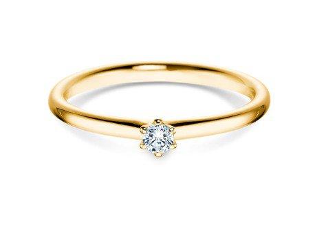 Verlobungsring Classic in 14K Gelbgold mit Diamant 0,07ct