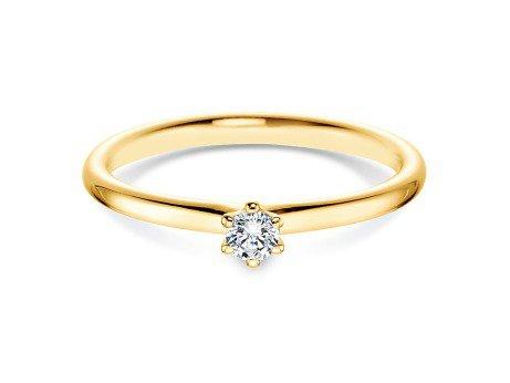 Verlobungsring Classic<br />14K Gelbgold<br />Diamant 0,10ct
