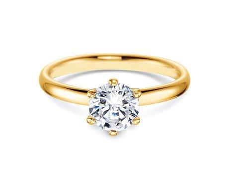 Verlobungsring Classic<br />14K Gelbgold<br />Diamant 1,00ct