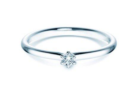 Verlobungsring Classic<br />14K Weißgold<br />Diamant 0,07ct