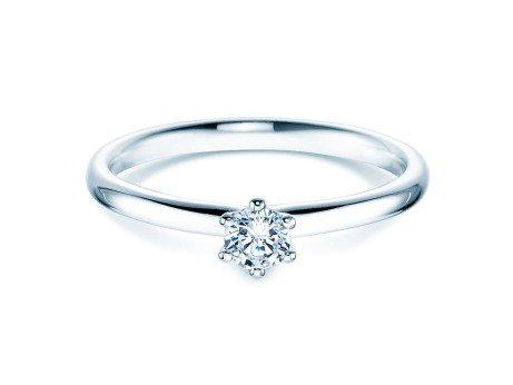 Verlobungsring Classic<br />14K Weißgold<br />Diamant 0,20ct