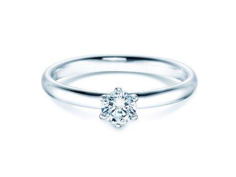 Verlobungsring Classic in 14K Weißgold mit Diamant 0,30ct