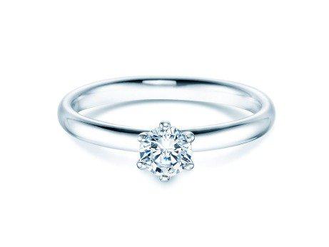 Verlobungsring Classic<br />14K Weißgold<br />Diamant 0,40ct