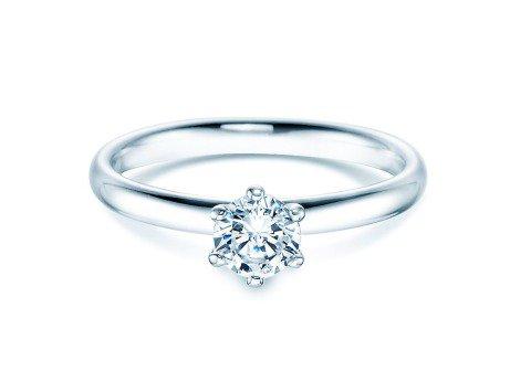 Verlobungsring Classic<br />14K Weißgold<br />Diamant 0,50ct