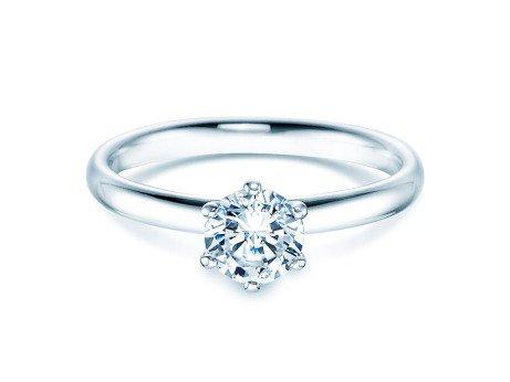 Verlobungsring Classic<br />14K Weißgold<br />Diamant 0,75ct