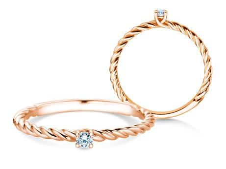 Verlobungsring Classic Loop<br />18k Roségold<br />Diamant 0,05ct
