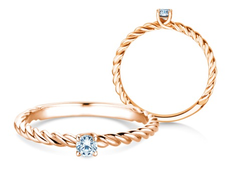 Verlobungsring Classic Loop<br />18k Roségold<br />Diamant 0,10ct