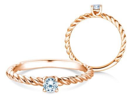 Verlobungsring Classic Loop<br />18k Roségold<br />Diamant 0,15ct