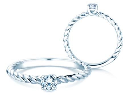 Verlobungsring Classic Loop<br />Platin<br />Diamant 0,25ct
