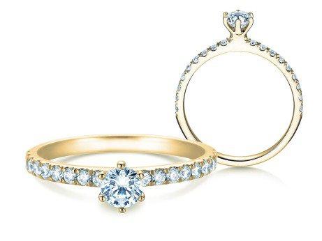 Verlobungsring Classic Pavé<br />18K Gelbgold<br />Diamanten 0,60ct