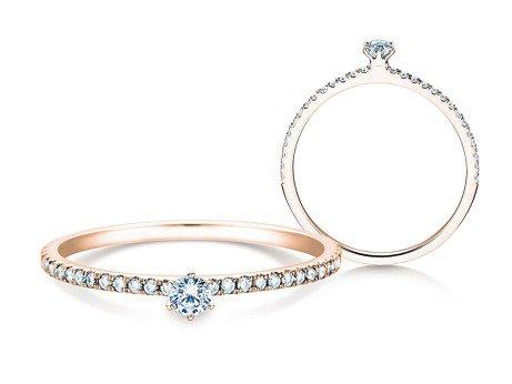 Verlobungsring Classic Pavé<br />18K Roségold<br />Diamanten 0,30ct