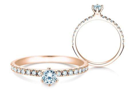 Verlobungsring Classic Pavé<br />18K Roségold<br />Diamanten 0,40ct