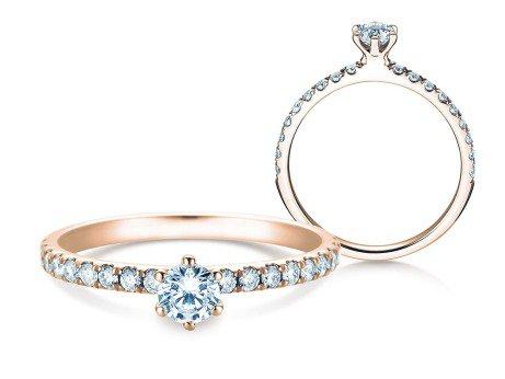 Verlobungsring Classic Pavé<br />14K Roségold<br />Diamanten 0,50ct