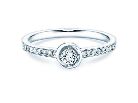Verlobungsring Dawn<br />18K Weißgold<br />Diamant 0,35ct