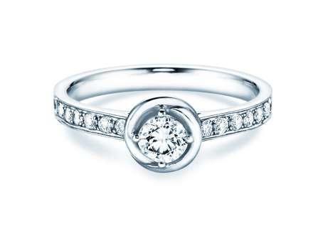 Verlobungsring Dawn in Platin mit Diamant 0,70ct